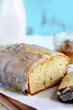 Honey Vanilla Pound Cake - This decadent loaf is made with real butter, vanilla almond milk and a hint of honey. Topped with a delicious rich honey vanilla glaze.