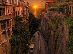 Sunset, Sorrento, Italy  photo via whitemiss