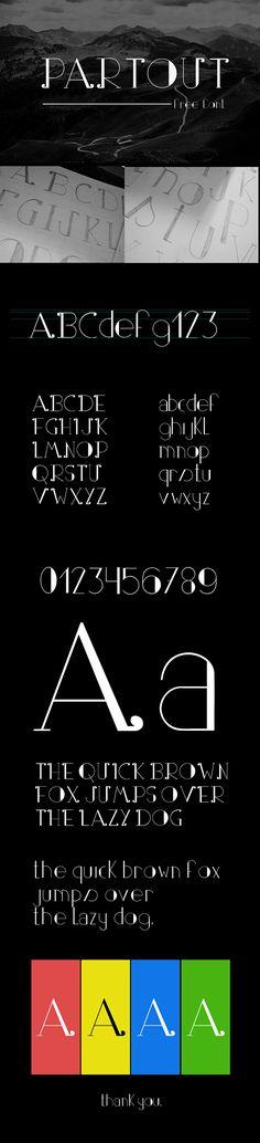 Partout - free font on Behance