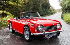 The TR5 was built for a 13-month period between August 1967 and September 1968 in Coventry, England. Visually identical to the Michelotti styled TR4, the TR5 hid the main differences under the body. The most significant change was the 2.5-litre straight-six fuel-injected engine developing around 150bhp and which was carried forward to the TR6. At the time, fuel injection was uncommon in road cars. Triumph claimed in their sales brochure that it was the 'First British production sport....