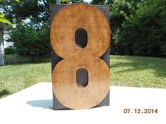 Antique Letterpress Wood Type Large Number 8 Measures 8 1/4 In Tall x 5 In Wide #Letterpress