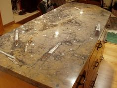 Fossil Counter Stone Tiles Tile Stained Dimensional Tile