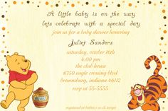 Winnie the Pooh Baby Shower Invitation. $10.00, via Etsy.