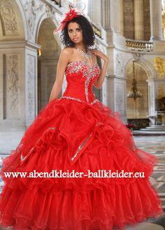 Modernes Abendkleid Ballkleid Online in Rot