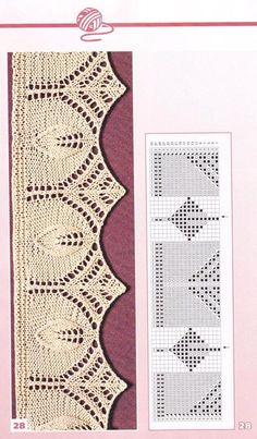 47 knitwear patterns model de tricotat gratuit 16 – Awesome Knitting Ideas and Newest Knitting Models Lace Knitting Patterns, Knitting Stiches, Knitting Charts, Lace Patterns, Free Knitting, Baby Knitting, Stitch Patterns, Knitting Ideas, Knit Edge