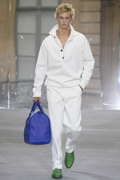 On the catwalk at Berluti Spring-Summer 2016 Men Fashion Show #PFW #RTW #SS16 #Berluti #LVMH