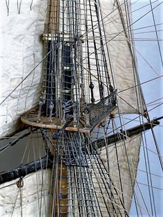 Tall Ship Rigging.