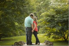 Spring Grove is a beautiful location for Cincinnati engagement photos. The tall trees, bridges and ponds are the perfect natural setting. Photos by Pottinger Photography : www.pottingerphoto.com