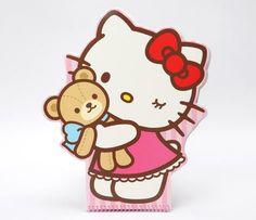 Hello Kitty Jumbo Die-Cut Notebook: Teddy Bear