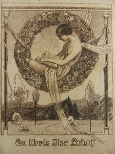 ~ Ex Libris, Bookplate illustrated by Alfred Liebing, circa 1920