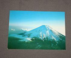 Vintage Original JAL Mount Fuji Japan Postcard Japan Air Lines 1960's - 70's Postcards Japan Airlines Mt Fuji Post Card Japanese by TreasureGalleria on Etsy
