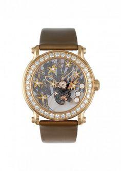 CHOPARD, montre de la collection Animal World - diamants noirs et diamants blancs