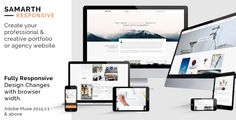 Samarth: Responsive Creative Multipurpose Muse Theme     	Samarth is a very professional & a creative multipurpose template designed for Adobe Muse. It's fully responsive and adjust with the br...