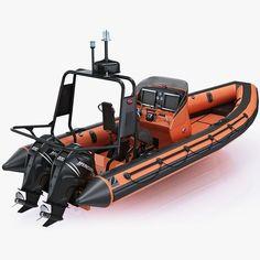 Inflatable Lifeboat Zodiac RIB Hurricane And Engine Mercury Verado ...: