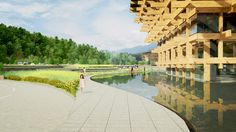 Kengo kuma unites latticed yunnan sales center in china