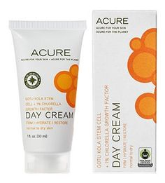 Acure Organics Day Cream - I use this every day as part of my skin routine. Light feeling and my foundation goes on nice and even on top of it as well.  Love the Acure Organics line!!