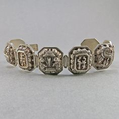 Vintage Sterling Bracelet Chinese Jewelry Silver by OldTextiles, £95.70