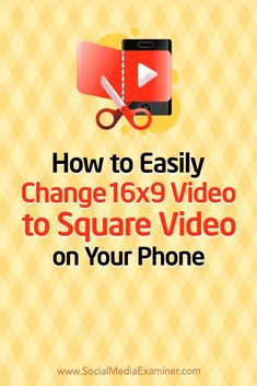 Want to use more square videos in your social media marketing? Concerned you filmed in the 16×9 format? In this article, you'll discover how to change landscape video into square video using your mobile device. #VideoMarketing #SocialMedia #SocialMediaExaminer