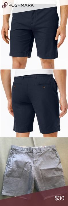 """Tommy Hilfiger men's shorts navy blue 36 Tommy Hilfiger  New with tags  Men's shorts  Casual  Size 36  9"""" inseam  Length: 20""""  Cotton blend  Navy blue Tommy Hilfiger Shorts"""