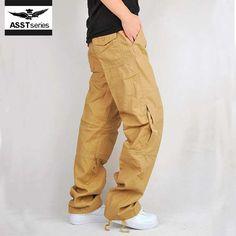 62c21ac7fa mens fashion casual brand men s pants cargo big size military black parkour  trousers motorcycle linen pants