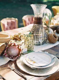 Safari inspired wedding table decor