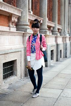 Susie Bubble - pink print #streetstyle