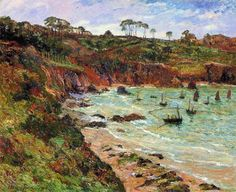 """""""Winter Seine fishing under the Plomarc'h ,Douarnenez"""", by Maxime Maufra"""