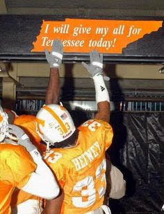 I will give my all for Tennessee today
