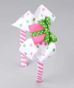 Take a look at this Picture Perfect Hair Bows Pink & Green Present Bow Headband Set on zulily today!