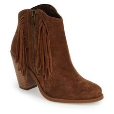Forever Tunas-93 Womens Round Toe Platform Wedge Faux Suede Side Zip Fringe Ankle Boots