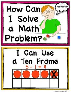 """*SUBTRACTION"""""""" Solving Math Problems {Strategy Posters} Common Core. $"""