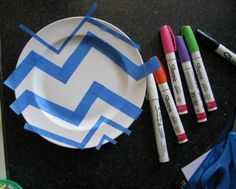 sharpie plates with tape                                                       …