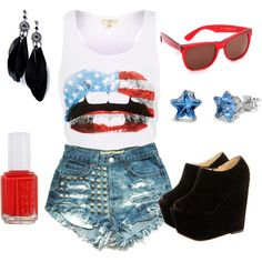 """""""'Merica"""" by dreamxcarolinaa on Polyvore"""