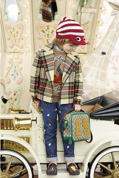 Shop our Gucci kids collection including kids Gucci belts, dresses, bags, Gucci baby clothes and more from the luxury designer. Discover our beautiful Gucci kids range. Toddler Boy Fashion, Kids Fashion, Fashion Games, Fashion Ideas, Gucci Baby Clothes, Bird Applique, Polo Ralph Lauren Kids, Gucci Kids, Designer Kids Clothes