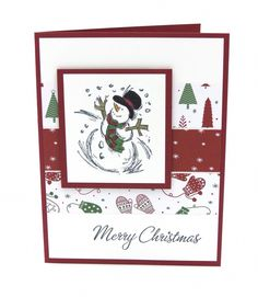 Stampin Up Christmas Card Snowman Christmas Cards Combined Shipping Christmas Cards 2018, Homemade Christmas Cards, Stampin Up Christmas, Xmas Cards, Christmas Snowman, Handmade Christmas, Holiday Cards, Christmas Holidays, Stampinup Christmas Cards