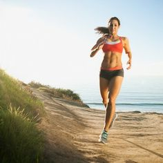 Taking your run to the beach strengthens your lower leg muscles. Just make sure to run on tighter, more packed sand.