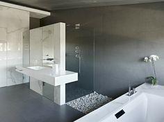 Trennwand Badewanne Dusche : Trennwand Badewanne Dusche : Marmor Badfliesen Waschtisch Einbaubecken