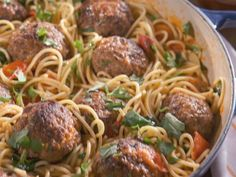 Spaghetti and Meatballs recipe from Nancy Fuller via Food Network