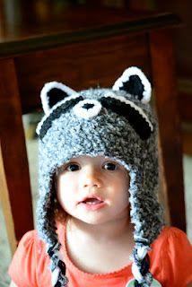 Knotty Knotty Crochet: Raccoon hat free pattern