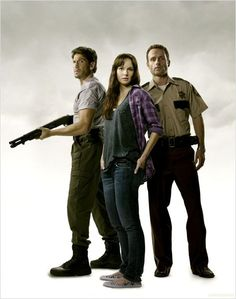 john bernthal,andrew lincoln | ... Walking Dead : Photo Andrew Lincoln, Jon Bernthal, Sarah Wayne Callies