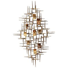 Contemporary Curtis Jere Style Wall Sculpture | From a unique collection of antique and modern wall-mounted sculptures at https://www.1stdibs.com/furniture/wall-decorations/wall-mounted-sculptures/