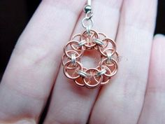 Copper and Sterling Micro Maille Snowflake Earrings A $25.00 value, here is your chance to win a pair! Simply comment on this post and you are entered! As always, re-pins are welcome but not mandatory. Thank you for stopping by and good luck to everyone!