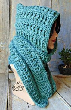 ACWC Scoodie - free crochet pattern at The Country Willow #CrochetScarf