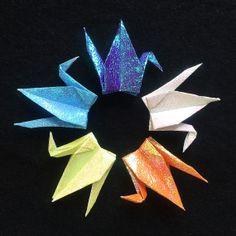 """1000 3"""" Aurora Origami Cranes (Senbazuru)"""