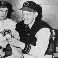 In 1944, Joe Nuxhall of the #CincinnatiReds became the youngest player in the 20th century to pitch in a Major League Game #CincyPride #CincyReds #CincinnatiHistory #1940s