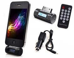Excelvan FM Transmitter + Car Charger + Remote Control for iPhone 4S/4/3GS/3G iPOD