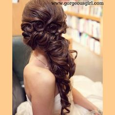 #Bridal #Hairstyle For more hairstyles visit https://www.gorgeousgirl.com/hair-styles-trends