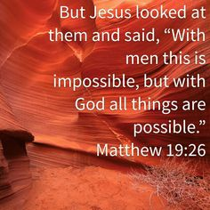 Matthew 19:26 HCSB