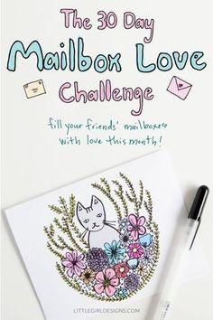 More About the Challenge - Jennie Moraitis Pen Pal Letters, Cute Letters, Pocket Letters, Love Challenge, Writing Challenge, Monthly Challenge, Snail Mail Pen Pals, Snail Mail Gifts, Mail Art Envelopes