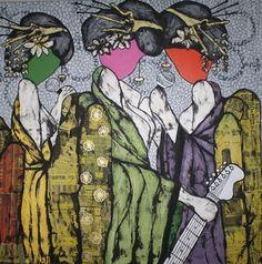 "Saatchi Online Artist Pamela Gotangco Hupp; Painting, ""Sing and be Free Pussy"" #art"
